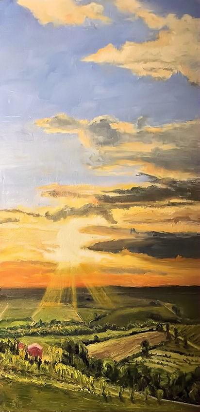 """Provencal Sunset"" original fine art by Patricia Matranga"