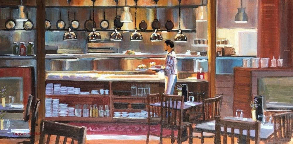 """Order Up - The Marketplace Kitchen in Woodbury, CT"" original fine art by Linda Marino"