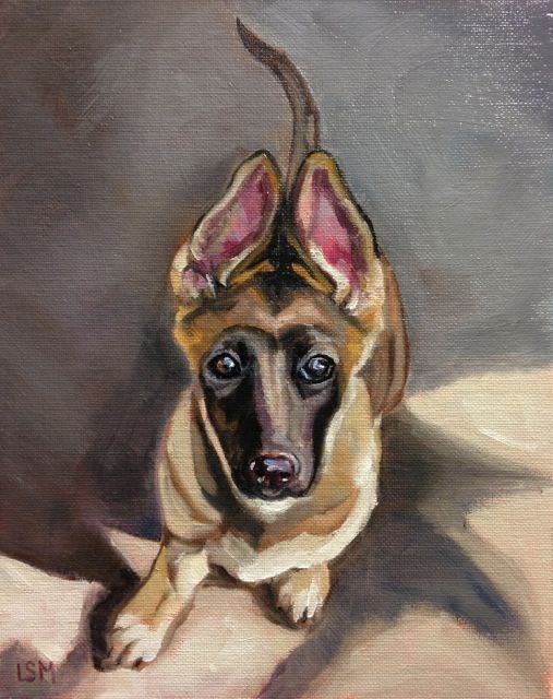 """Chloe"" original fine art by Linda Marino"