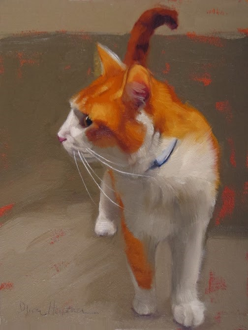 """Tangy cat painting by Hoeptner"" original fine art by Diane Hoeptner"