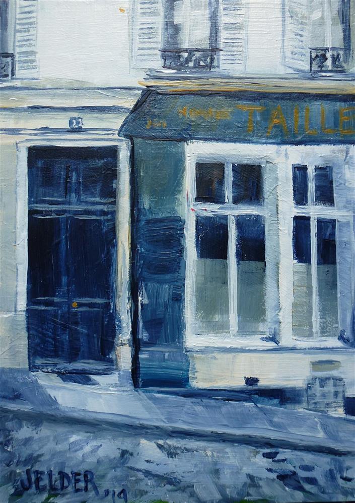 """Paris No. 124"" original fine art by Judith Elder"