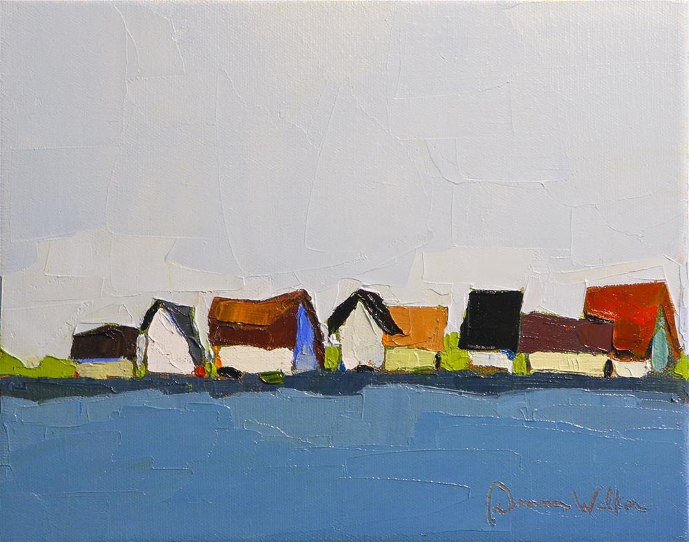 """""""Roof Line"""" original fine art by Donna Walker"""
