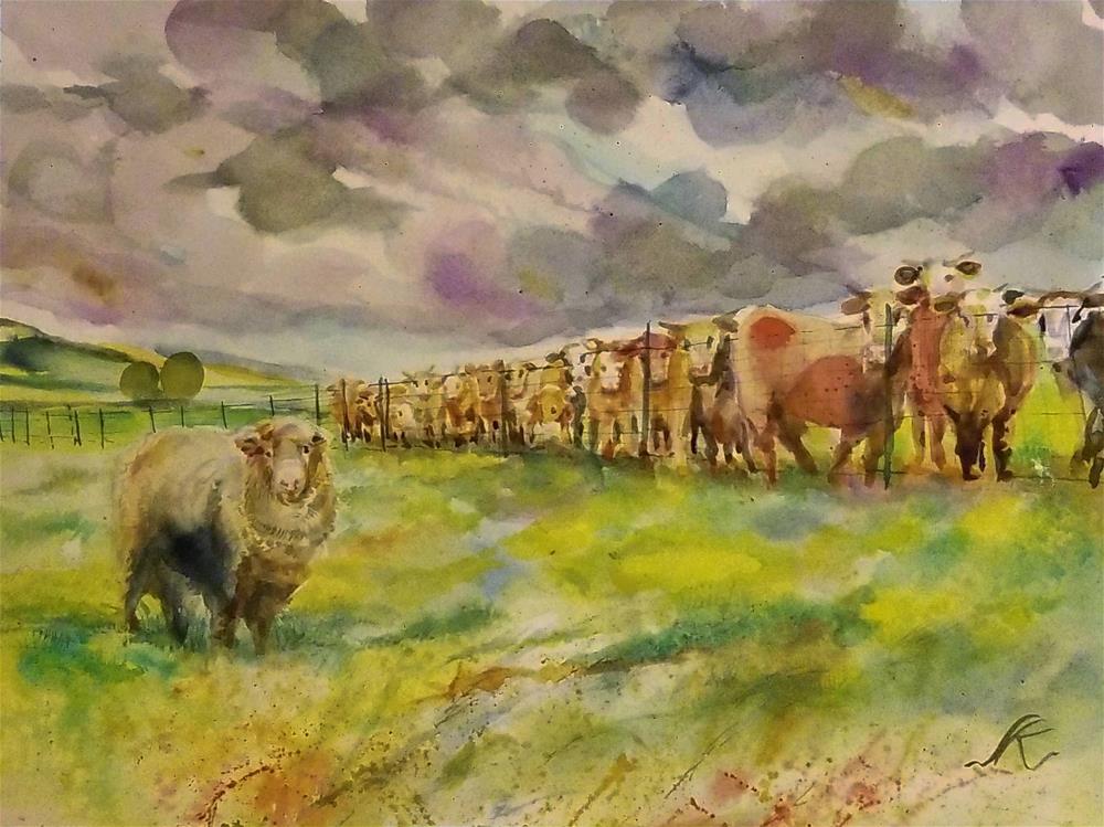 """Diva with Chorus"" original fine art by Jean Krueger"