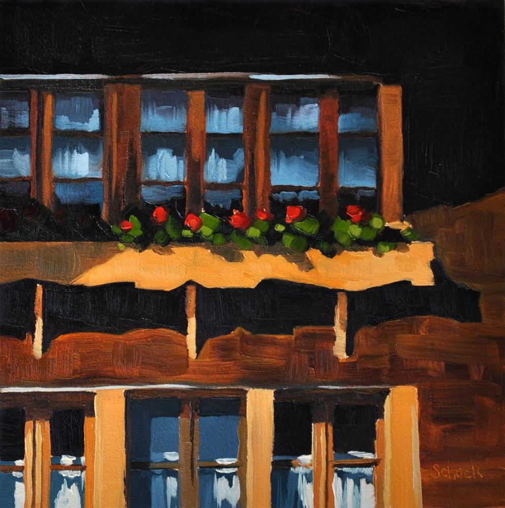 """Swiss Window II - 6x6"" original fine art by Sharon Schock"