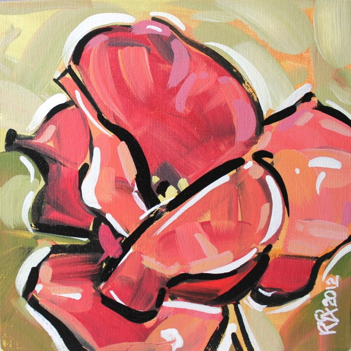 """""""Flower abstraction 2"""" original fine art by Roger Akesson"""