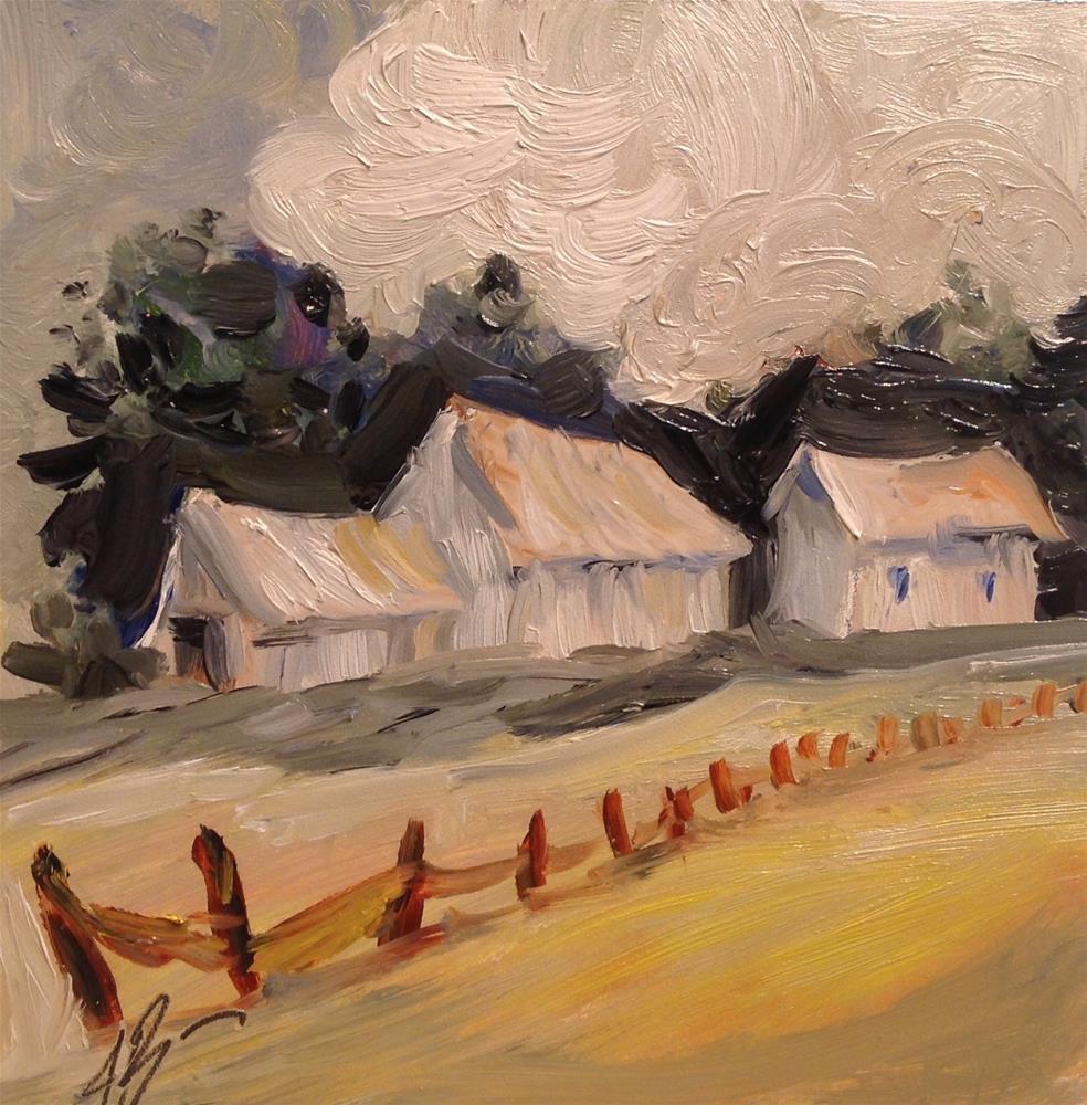 """Summer clouds"" original fine art by Annette Balesteri"
