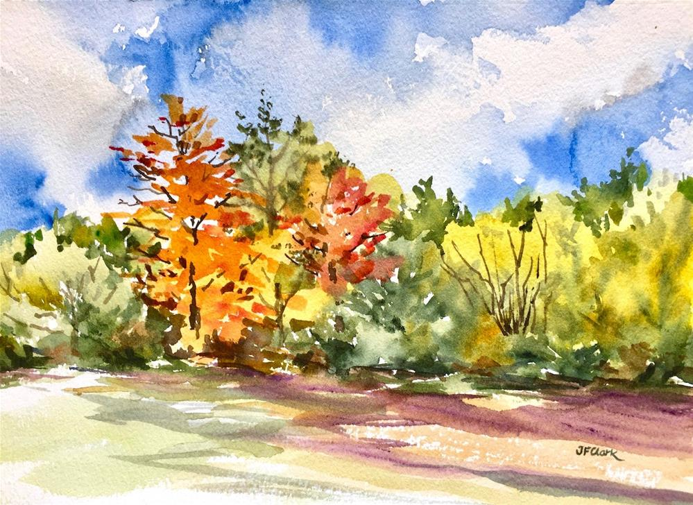"""October Afternoon"" original fine art by Judith Freeman Clark"