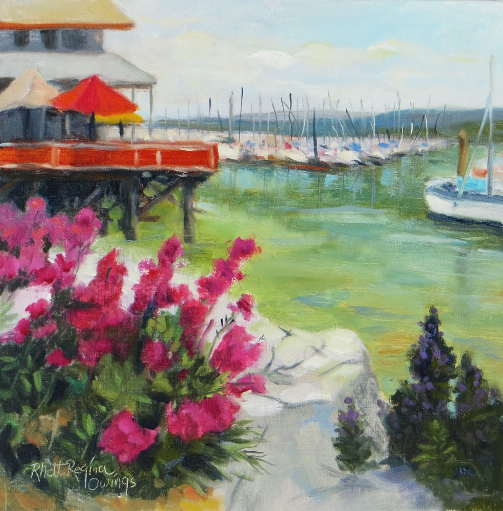 """Wharf Flowers"" original fine art by Rhett Regina Owings"