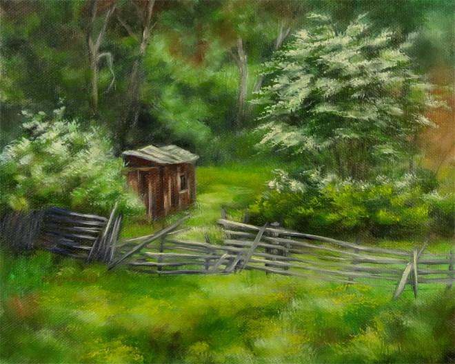 """""""Hidden Shack"""" original fine art by Carol Zirkle"""