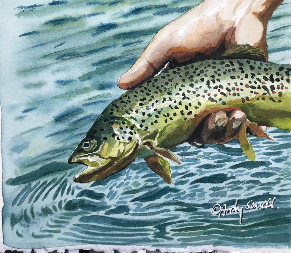 """""""Brown release"""" original fine art by Andy Sewell"""