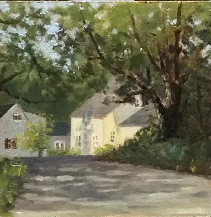 """Shadows on Landgrove road"" original fine art by Betty Argiros"
