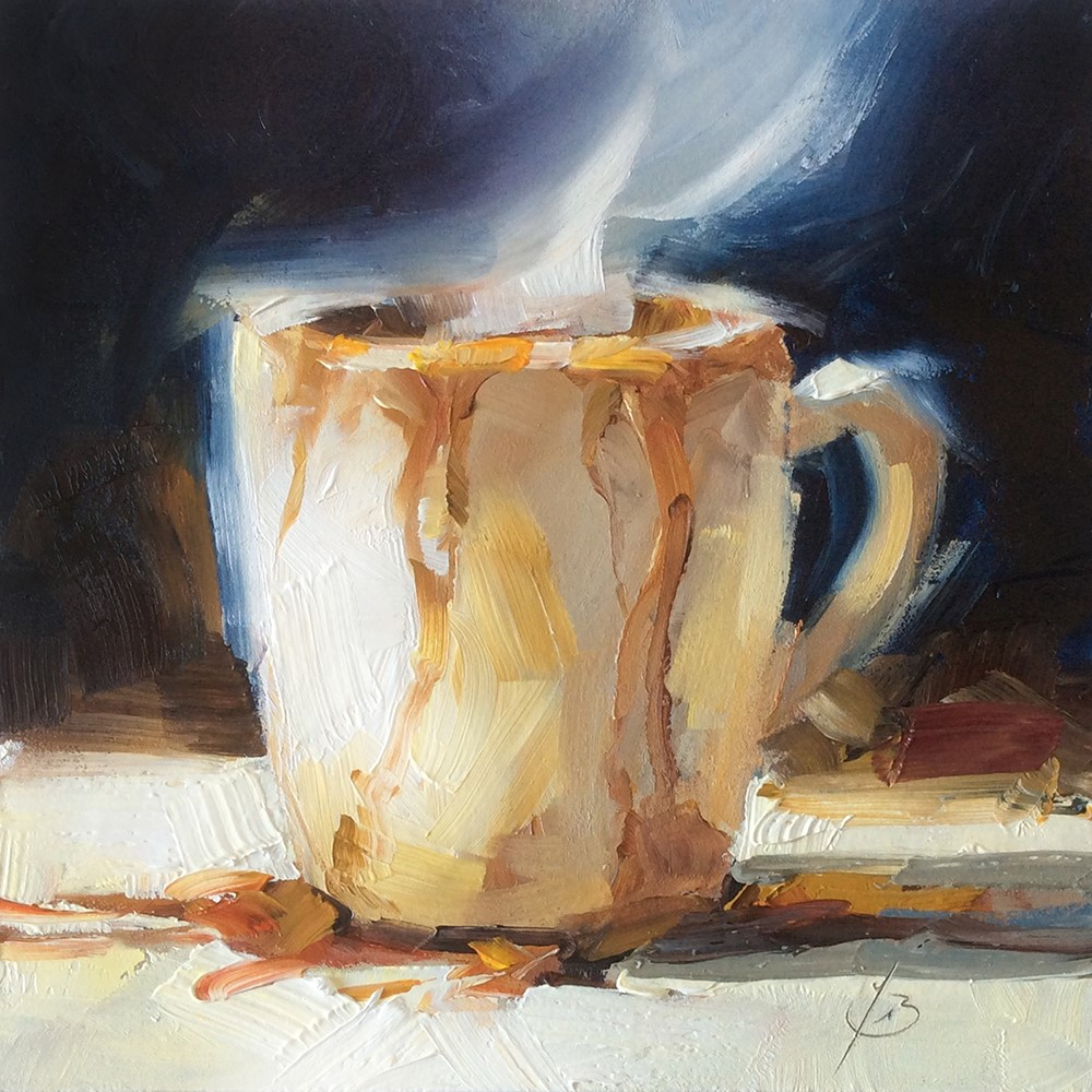"""""""MY CUP RUNNETH OVER"""" original fine art by Tom Brown"""