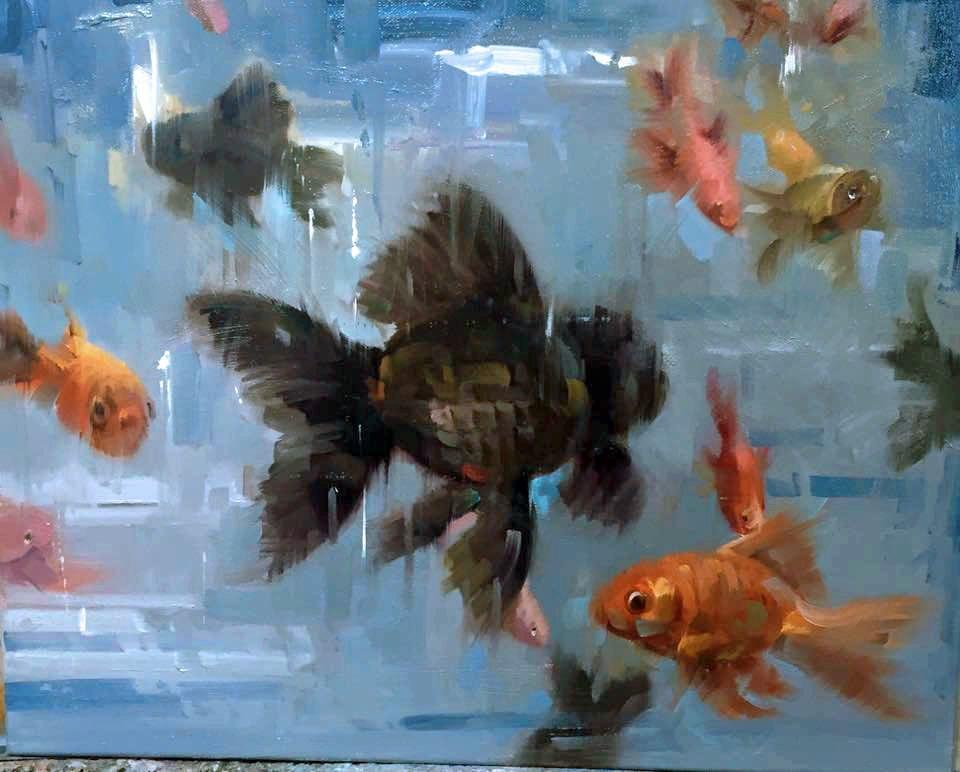 """Fish Challenge"" original fine art by Mostafa Keyhani"