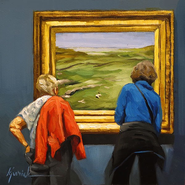 """Greener Pastures"" original fine art by Karin Jurick"
