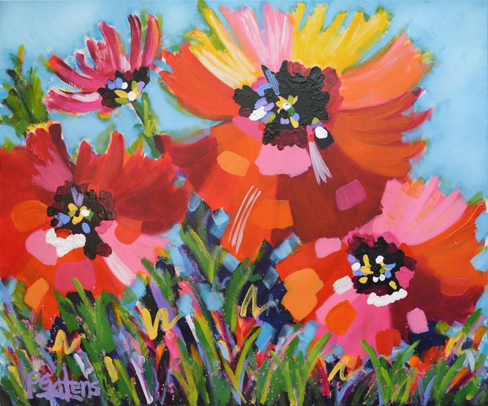 """Gala Red Poppies"" original fine art by Pamela Gatens"