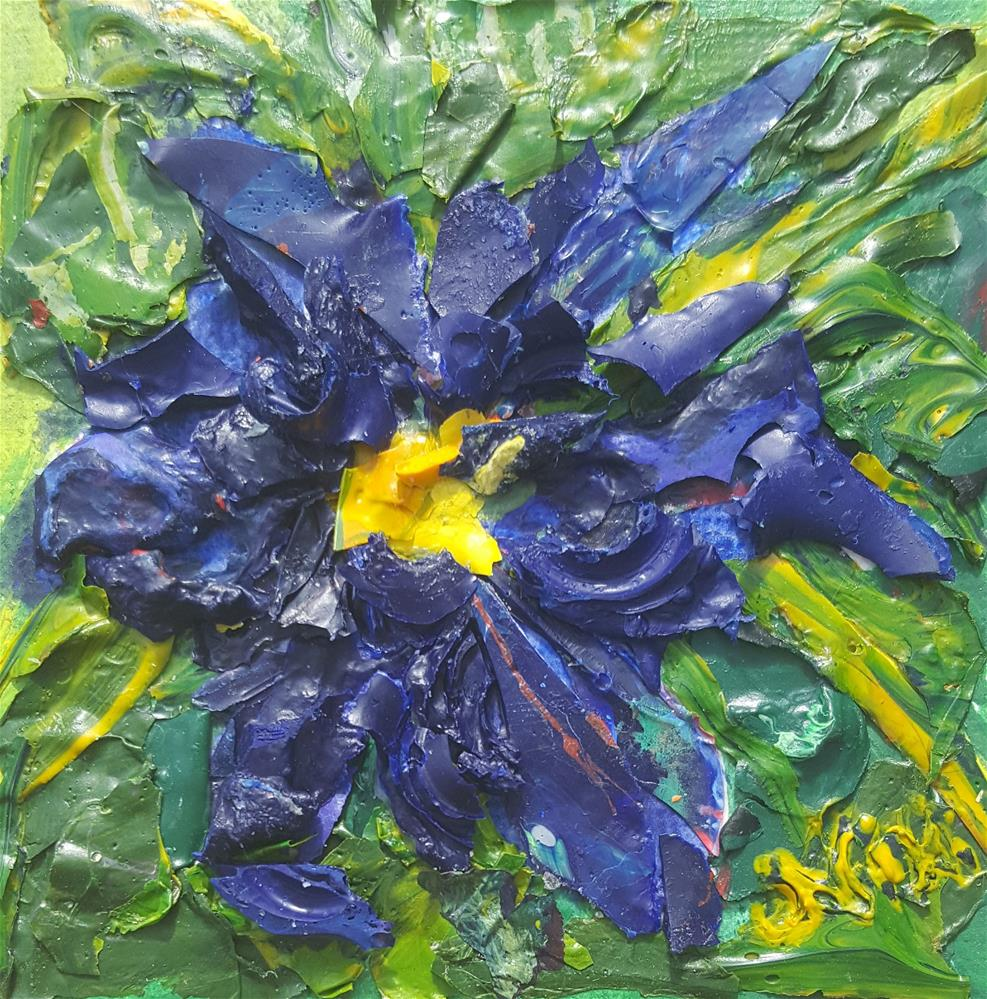 """Blaue Blume"" original fine art by Niki Hilsabeck"