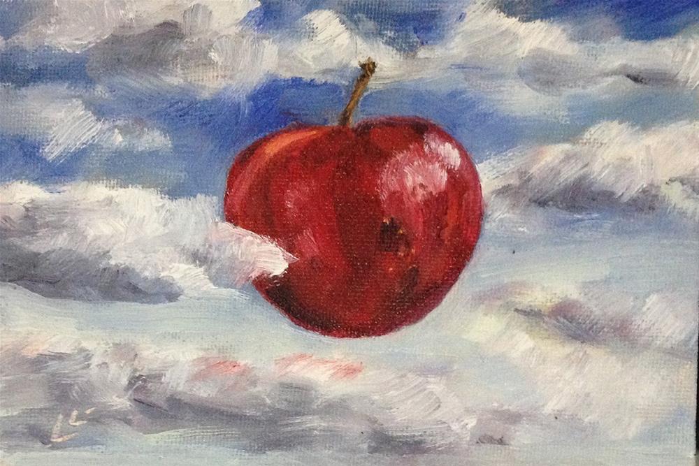 """Sky Apple"" original fine art by Linda Lowery"