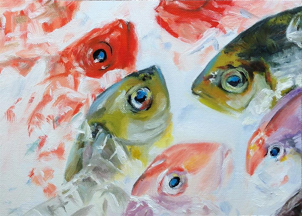 """On Ice"" original fine art by Linda Lowery"