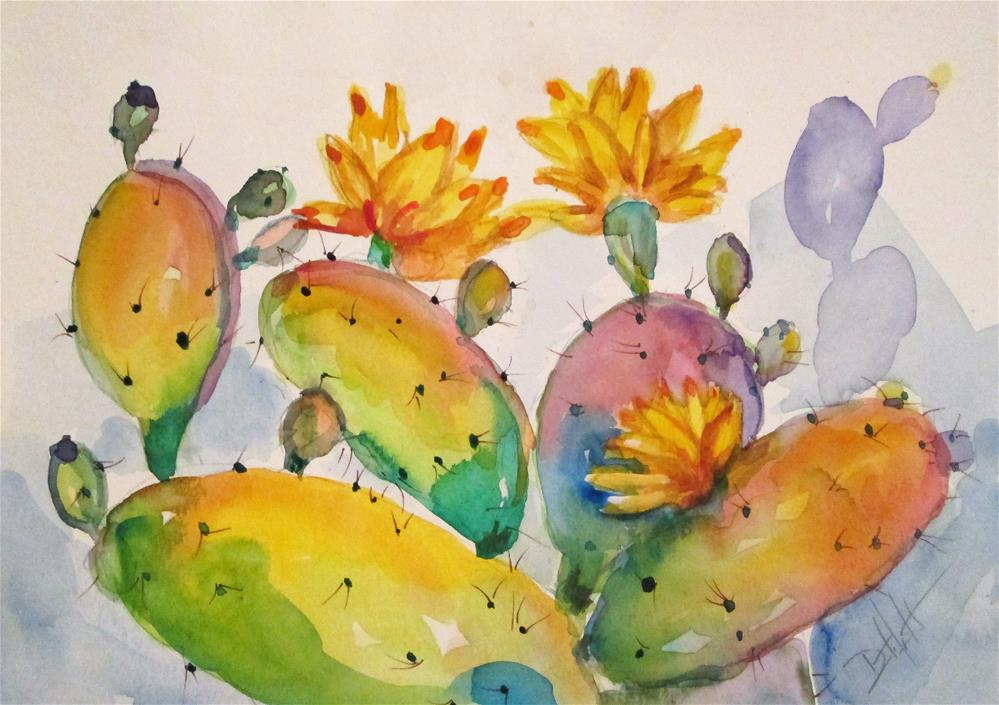 """Cactus No. 7"" original fine art by Delilah Smith"