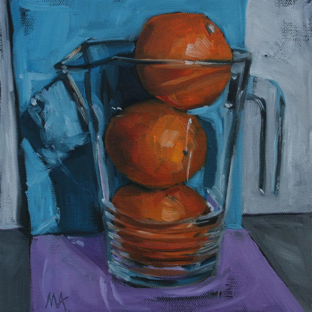 """Orange Juice"" original fine art by Aniko Makay"