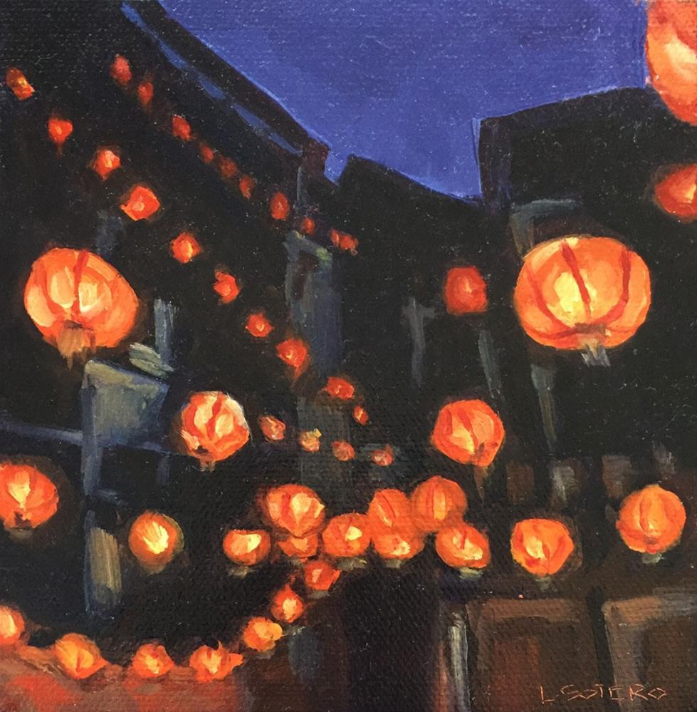 """Chinese Lanterns, Taiwan"" original fine art by Lisa Sotero"