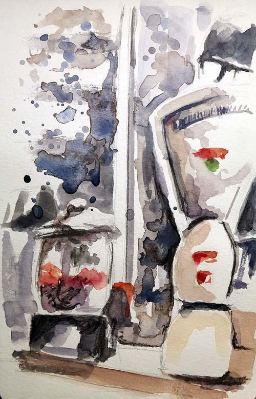 """1249 Sunday Sketch"" original fine art by Dietmar Stiller"