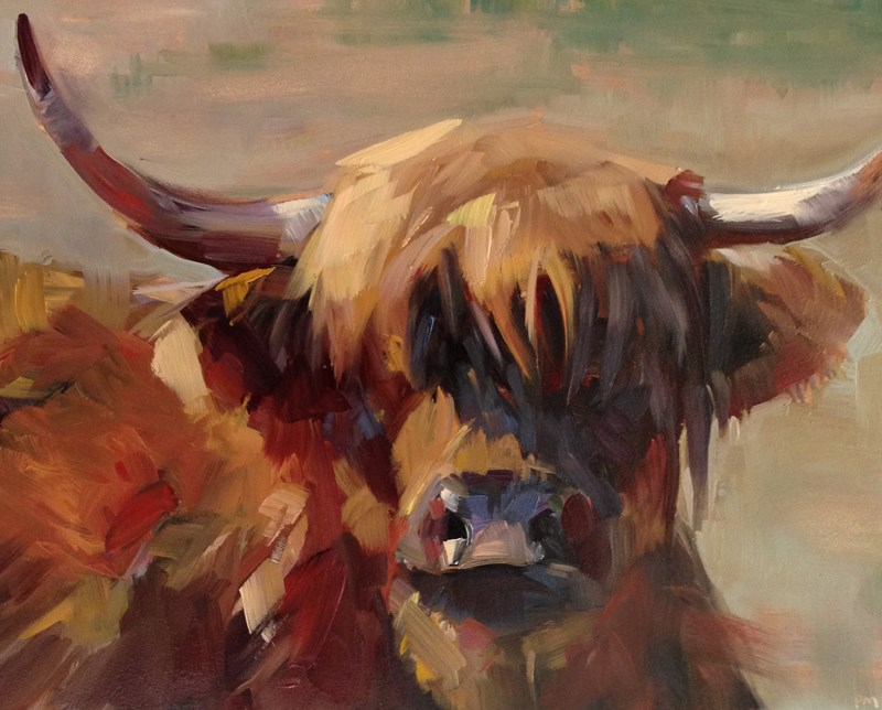 """Moo"" original fine art by Patti McNutt"
