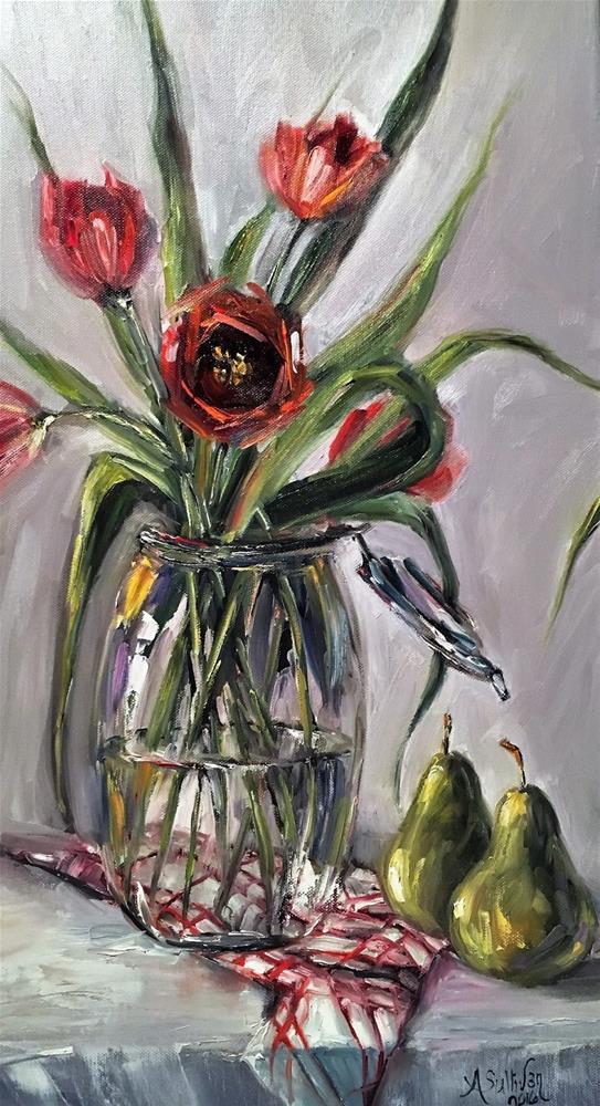 """Table For Two still life painting by Alabama Artist Angela Sullivan"" original fine art by Angela Sullivan"