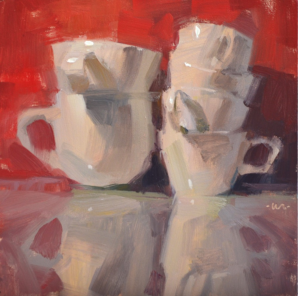 """Cuppies"" original fine art by Carol Marine"