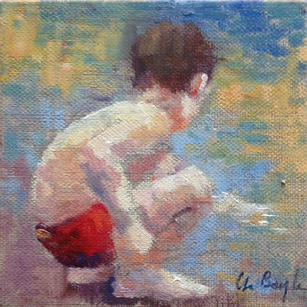 """""""Les coquillages"""" original fine art by Christine Bayle"""