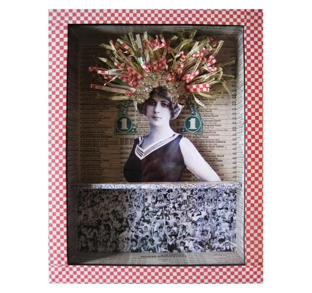 """One in a Million shadow box assemblage art by Linda Apple"" original fine art by Linda Apple"