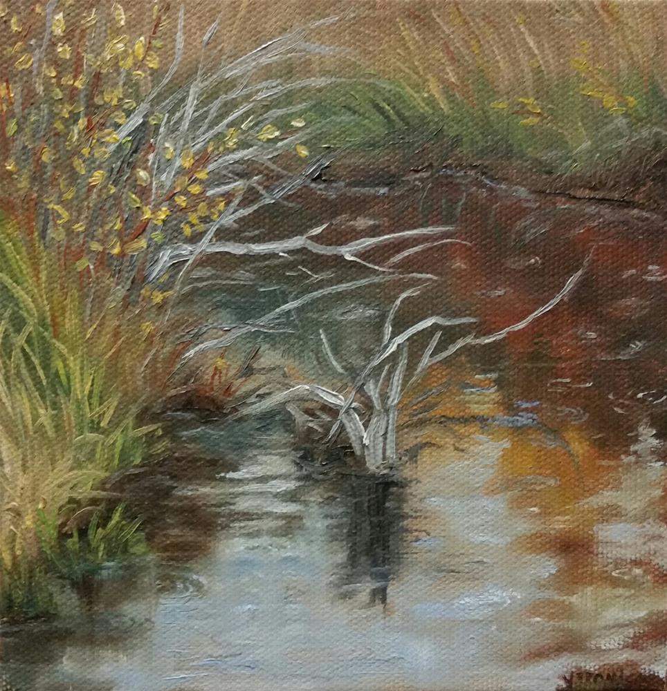 """Rain"" original fine art by Veronica Brown"
