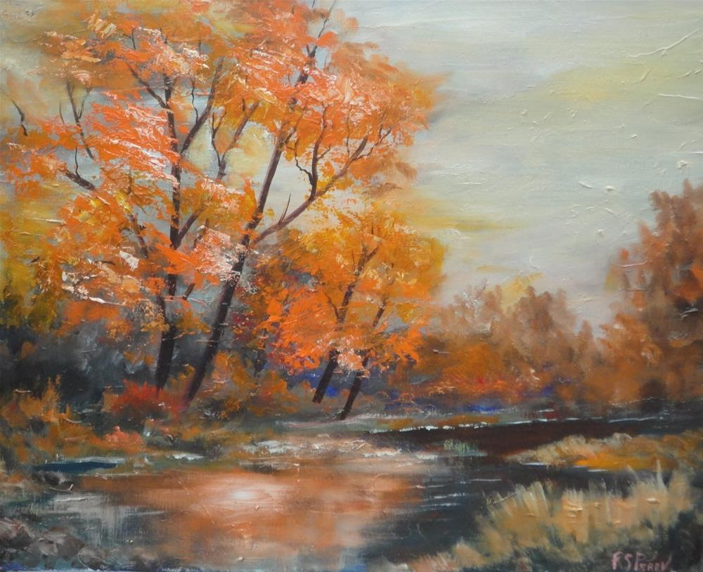 """Landscape in Gold "" original fine art by R. S. Perry"