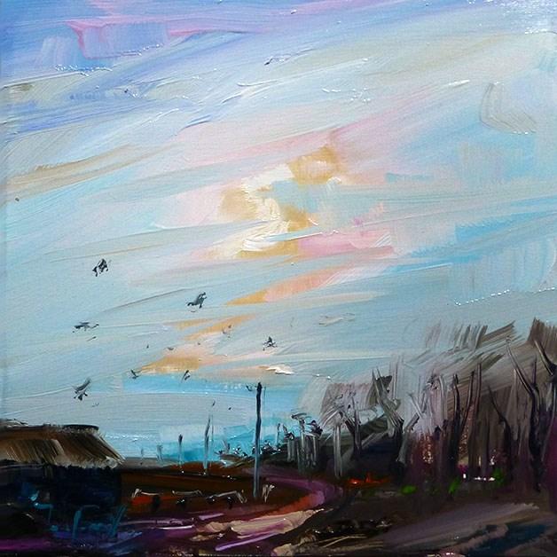 """""""Das Land"""" original fine art by Jurij Frey"""