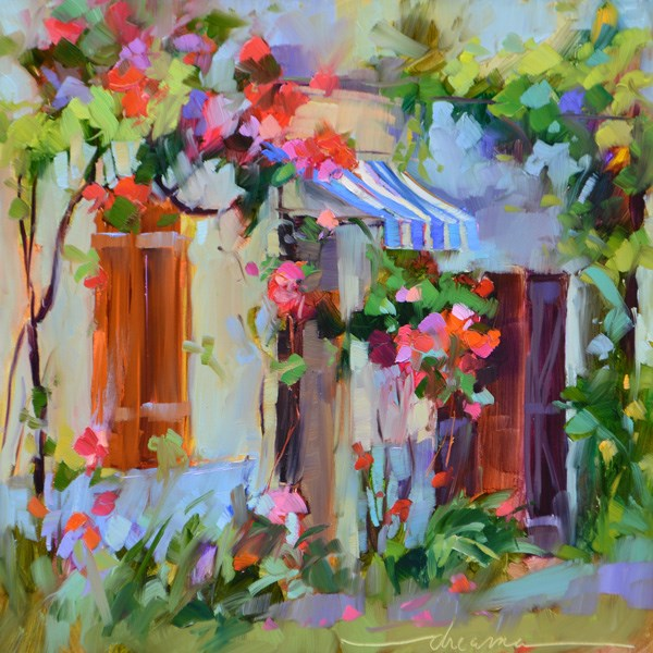 """Joy Falls Softly in France"" original fine art by Dreama Tolle Perry"