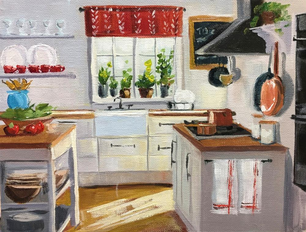 """Afternoon Kitchen Light"" original fine art by Linda Marino"