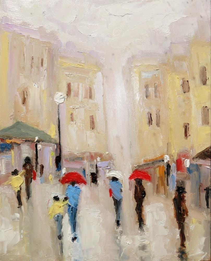 """Italian Market"" original fine art by Astrid Buchhammer"