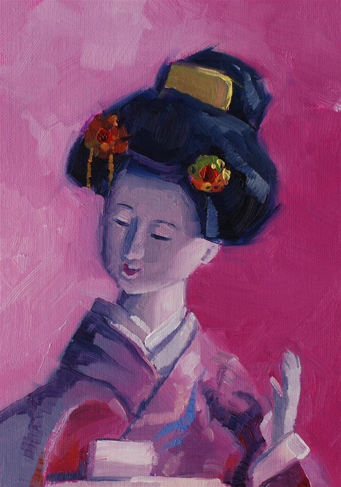 """The Japanese Doll No. 2"" original fine art by Susan McManamen"