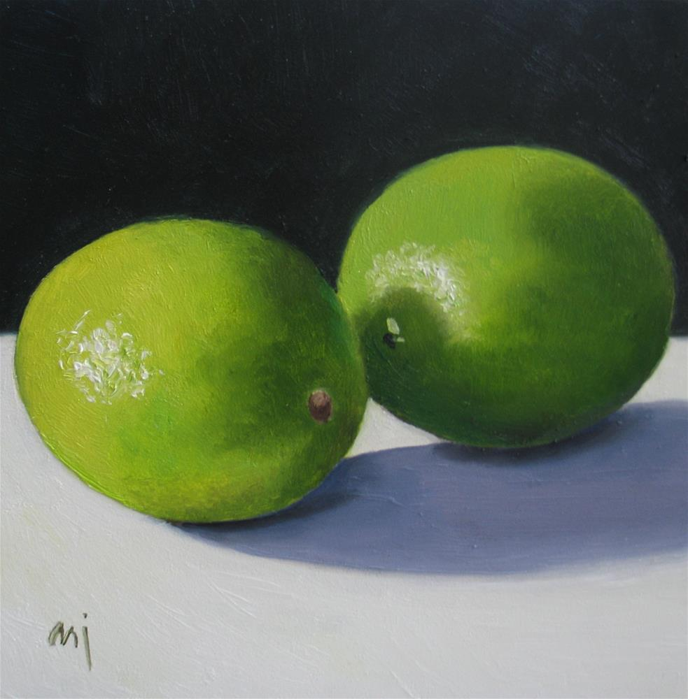 """Limes in the Limelight"" original fine art by Nel Jansen"