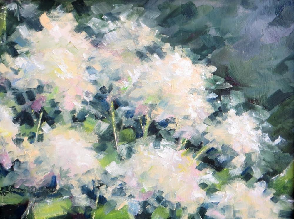"""Fish Creek Hydrangea"" original fine art by Tammie Dickerson"