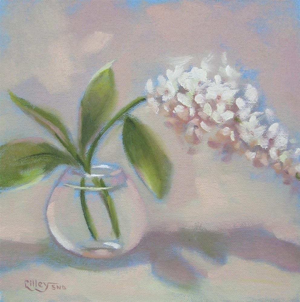 """White Lilac"" original fine art by Maresa Lilley"