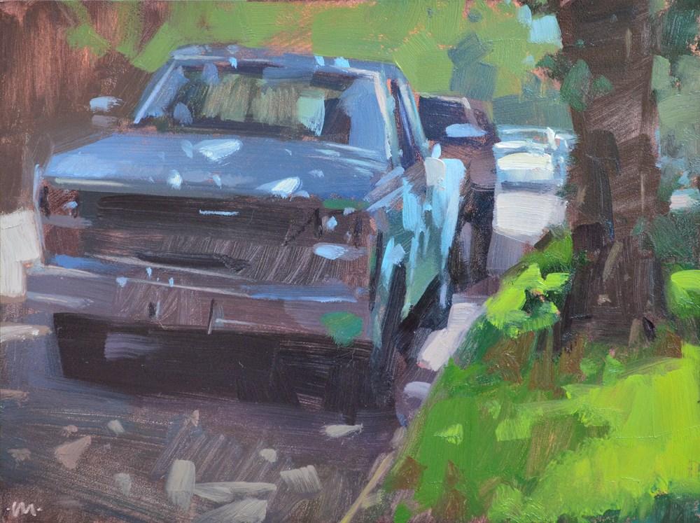 """""""Shady Blue"""" original fine art by Carol Marine"""
