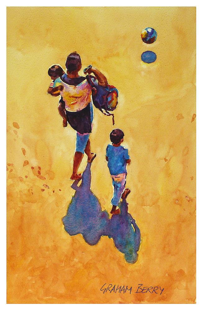 """""""Bouncing ball."""" original fine art by Graham Berry"""