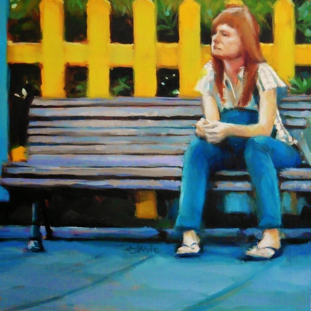 """Redhead girl"" original fine art by Víctor Tristante"
