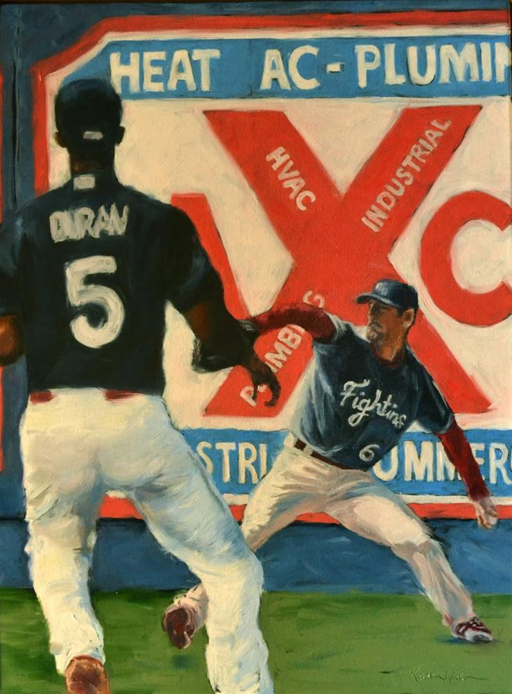 """Bringin' the Heat!"" original fine art by Karen Weber"