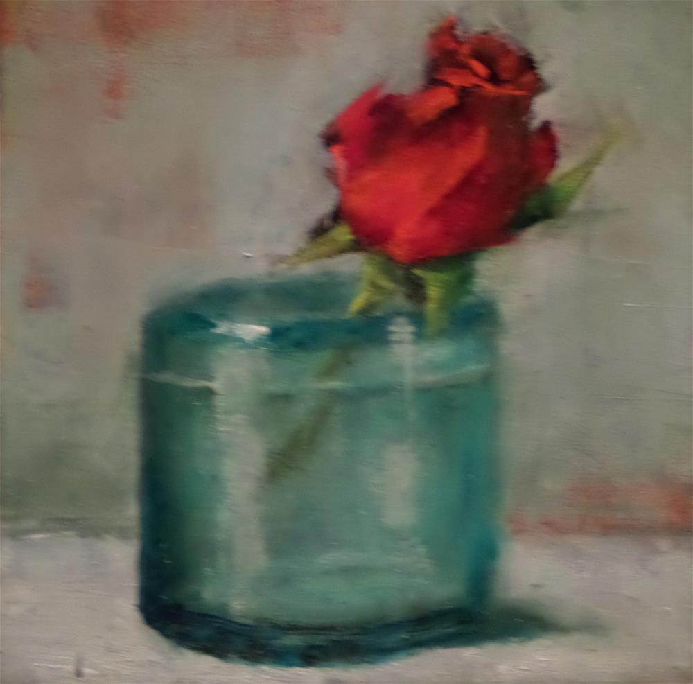 """""""THIS BUD'S FOR YOU"""" original fine art by Kris Stewart"""