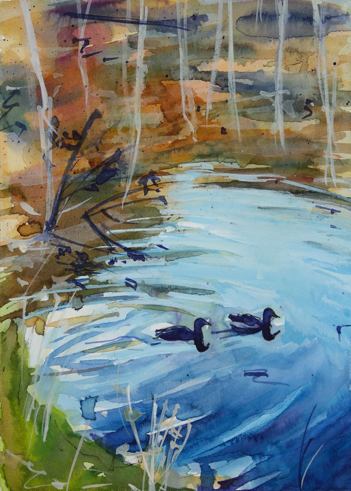 """Ducks"" original fine art by Chris Breier"