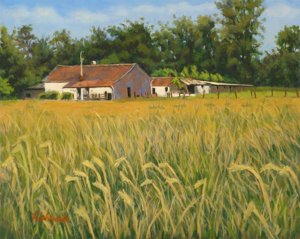 """Belgian Farm"" original fine art by Daniel Fishback"