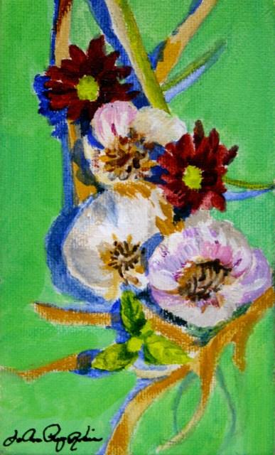 """Rhonda's Garlics 2015"" original fine art by JoAnne Perez Robinson"