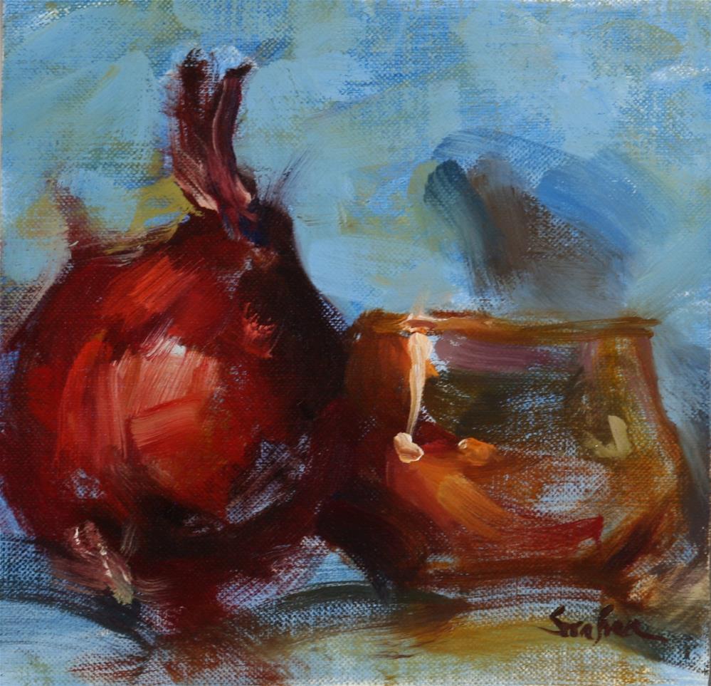 """""""Alizarin and Copper Study"""" original fine art by Scott Serafica"""
